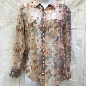 Madewell Broadway Broome Silk Button Blouse